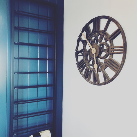 Wine Rack and Clock