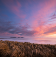 Sunset looking towards Barra from South Uist