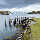 Old pier at Loch Skipport on Isle of South Uist, Outer Hebrides
