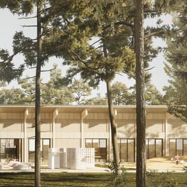 Biblioteka i przedszkole w Józefowie