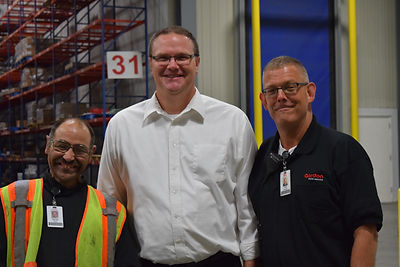 Alt=AHEDD Participant Danny with General Manager (Brad) and Supervisor (John)- Gordon Food Service