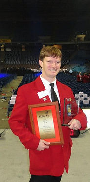 Alt=AHEDD Participant Joshua Receiving Award at National Competition