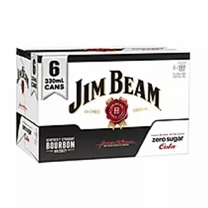 JIM BEAM ZERO SUGAR COLA 6PK