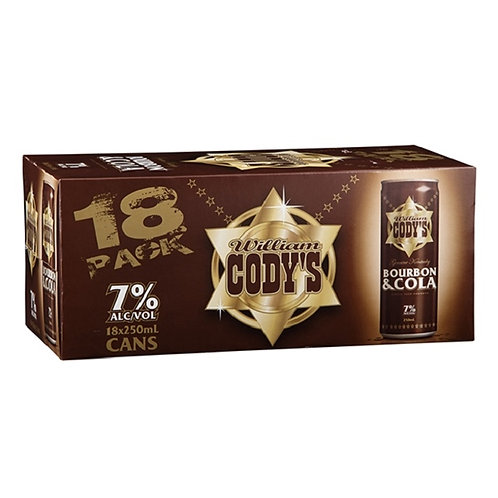 CODYS 7% 18PACK 250ML CANS