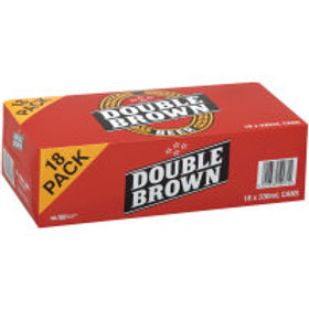 DOUBLE BROWN 330ML 18 CANS