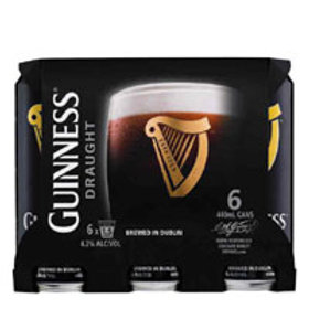 GUINNESS 6 PACK 440ML CANS