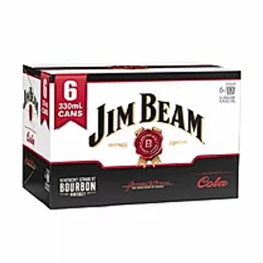 JIM BEAM COLA 6 PACK 330ML 4.8%
