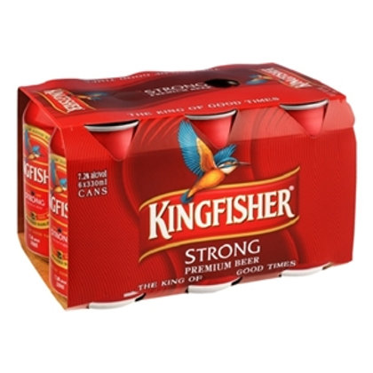 KINGFISHER STRONG CAN 6PK 330ML 7.2%