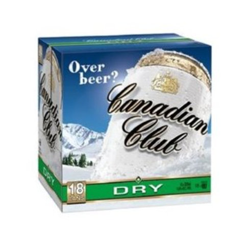 CANADIAN CLUB DRY 18PK CANS 4.8%