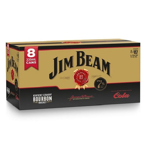 JIM BEAM GOLD 8PK 330ML CANS 7%