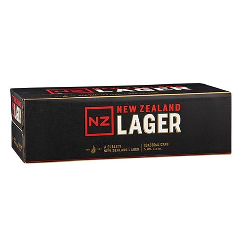 NZ LAGER 330ML 18 CANS