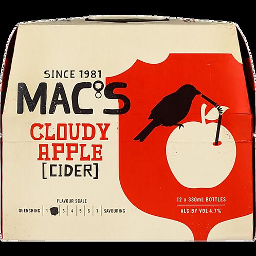 MACS CLOUDY APPLE CIDER 12 PACK BTLS