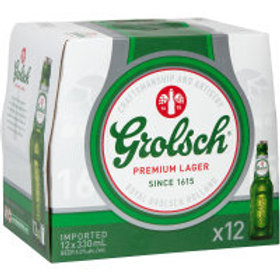 GROLSCH 330ML 12 PACK
