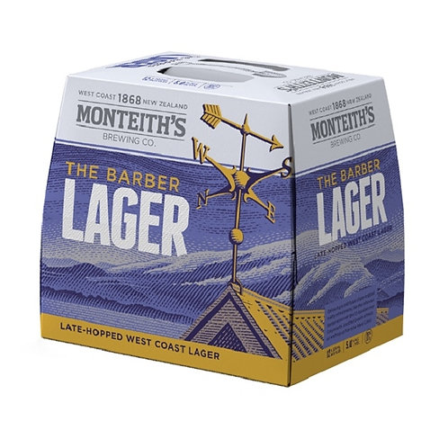 MONTEITH'S BARBER LAGER 12PK