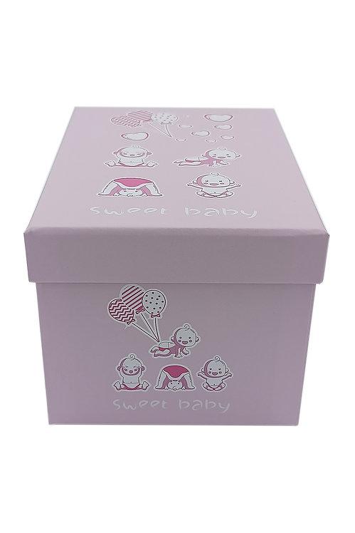 Bebek kutusu pembe sevimli bebekler 2 no  hediyelik kutu
