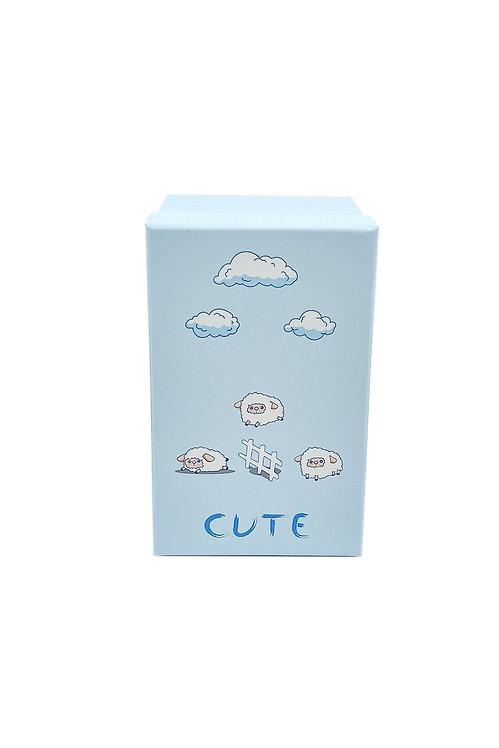 Bebek kutusu mavi kuzular 1 no  hediyelik kutu