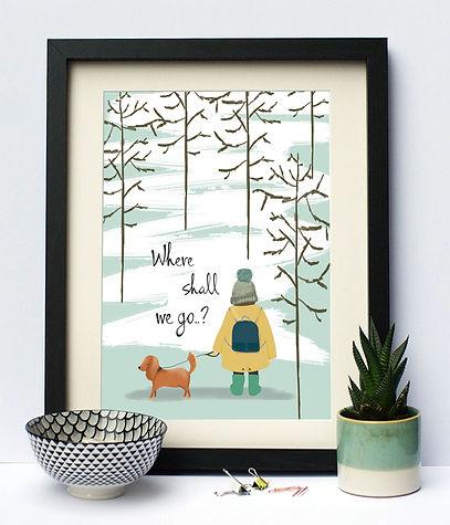 Where Shall We Go..? Print