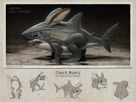 Les lapins-requins envahissent votre jardin pour Pâques !