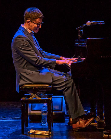 Justin Kauflin performing in Amsterdam, photo by JL Marshall
