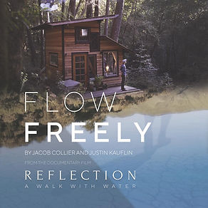 Flow Freely (single) cover of house in the woods, adjacent to stream