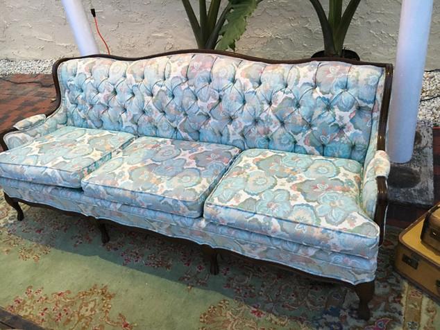 Blue Blossom Sofa