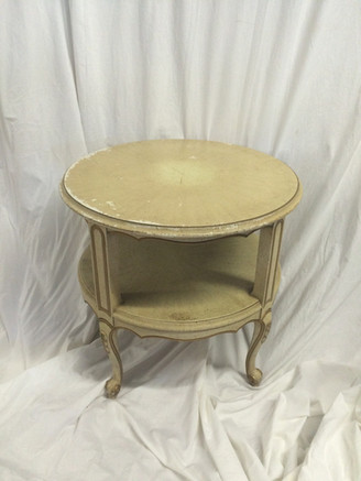 Double Cream Side Table
