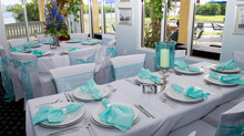 Beautiful wedding Saturday in Lake Worth  Decor by Blue Bridals