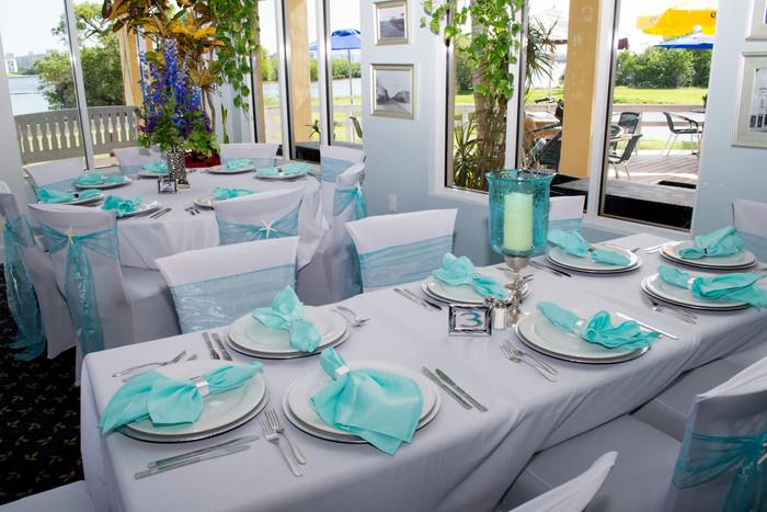 Beautiful wedding Saturday in Lake Worth  Decor by Blue Bridals