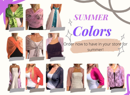 Be brillilant in bright colors for summer!