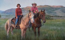 McKay Portrait on Horses