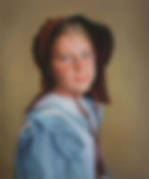 pioneer girl oil painting