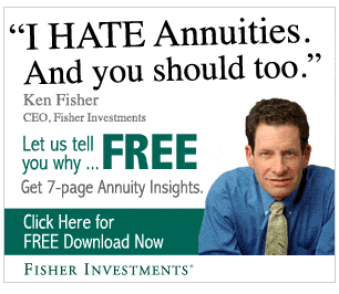 DOES YOUR ADVISOR HATE ANNUITIES? IF SO, YOU MAY NOT BE GETTING THE WHOLE STORY...