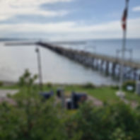 view of White Rock pier from Concord Retirement Residence