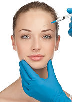 Cosmetic injection to the pretty female