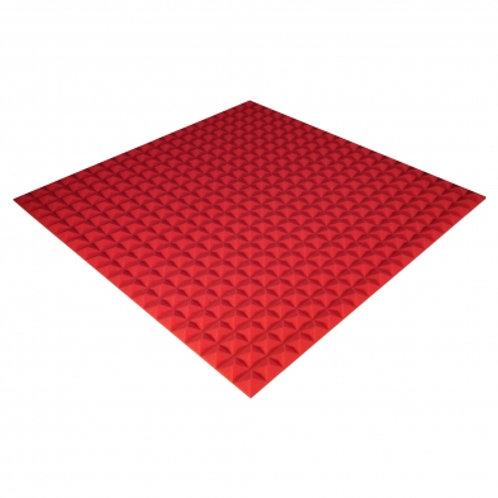 Панель из акустического поролона Ecosound Pyramid Color 20 мм 100x100 см красная