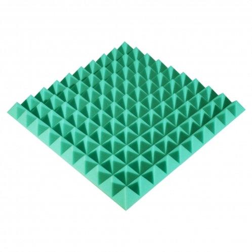 Панель из акустического поролона Ecosound Pyramid Color 50 мм 50x50 см зеленая