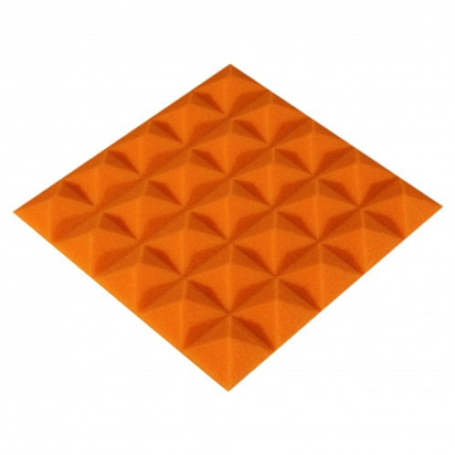 Панель из акустического поролона Ecosound Pyramid Color 20 мм 25x25 см оранжевая