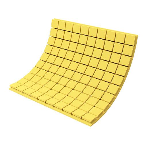 Панель из акустического поролона Ecosound Tetras Color 1000х1000х50 мм желтая