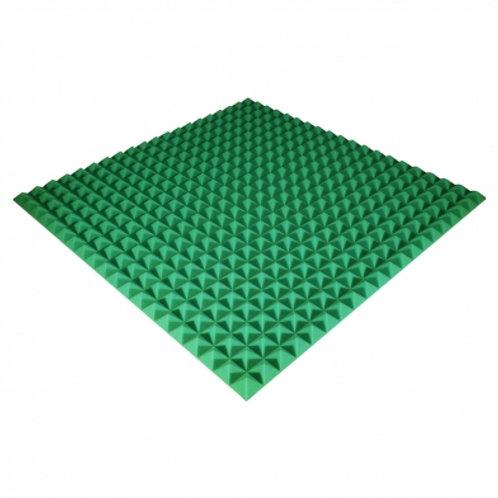Панель из акустического поролона Ecosound Pyramid Color 30 мм 100x100 см зеленая