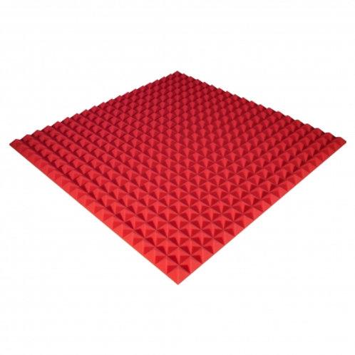 Панель из акустического поролона Ecosound Pyramid Color 25 мм 100x100 см красная