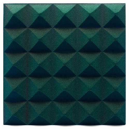 Панель из акустического поролона Ecosound Pyramid Velvet Dark green 250х250х25мм