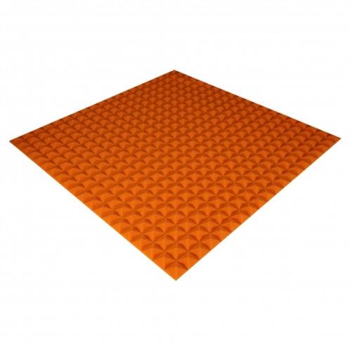 Панель из акустического поролона Ecosound Pyramid Color 20мм 100x100см оранжевая