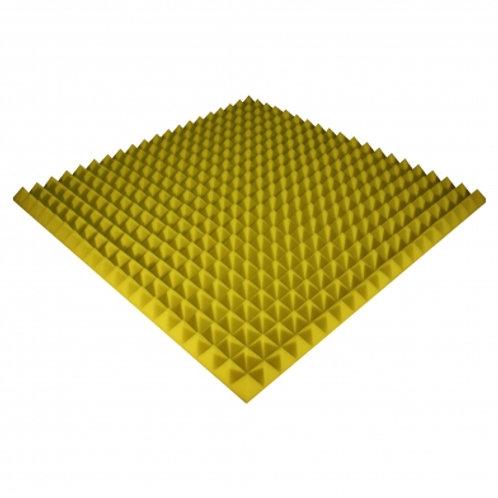 Панель из акустического поролона Ecosound Pyramid Color 50 мм 100x100 см желтая