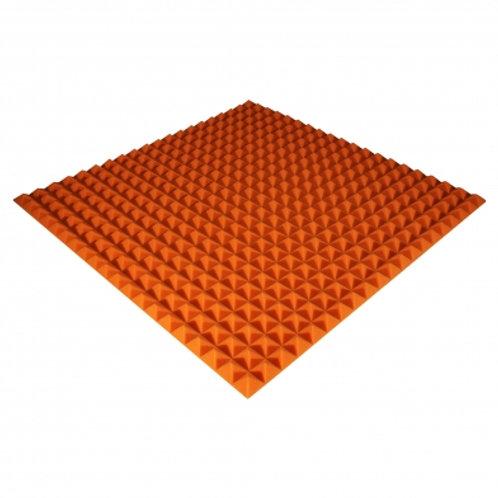 Панель из акустического поролона Ecosound Pyramid Color 25мм 100x100см оранжевая