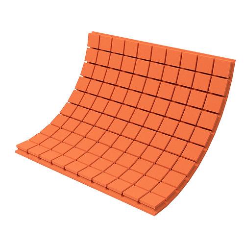 Панель из акустического поролона Ecosound Tetras Color 1000х1000х70 мм оранжевая