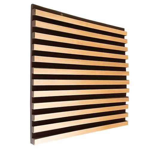 Акустическая панель Ecosound Comb Wood Sonoma 100x100см 50мм цвет светлый дуб