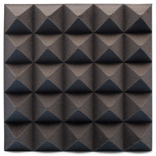 Панель из акустического поролона Ecosound Pyramid Velvet Black 250х250х25мм