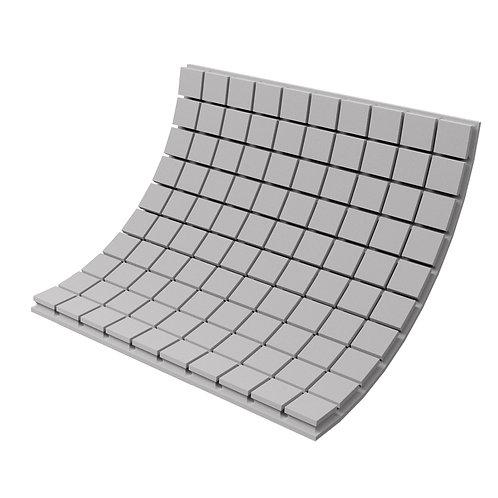 Панель из акустического поролона Ecosound Tetras Gray 100x100см, 70мм, серый