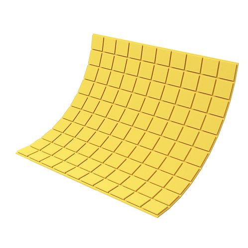 Панель из акустического поролона Ecosound Tetras Color 1000х1000х20 мм желтая
