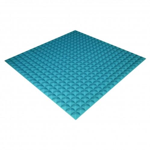 Панель из акустического поролона Ecosound Pyramid Color 20 мм 100x100 см синяя